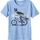 "Dinosaur and Bike ""Unstoppable"" Graphic Tee"