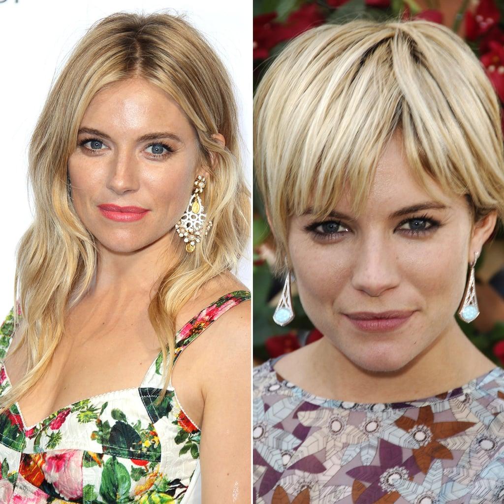 Sienna Miller Celebrities Who Cut Their Hair Short Hairstyle
