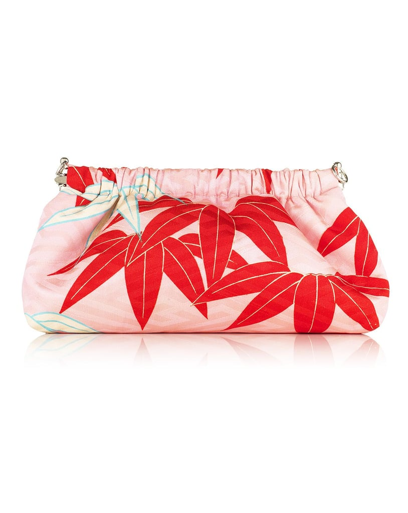 This gorgeous Chako Dumpling Clutch ($275) is one-of-a-kind and made out vintage Japanese Obi and Kimono silk fabrics. How amazing is that? 