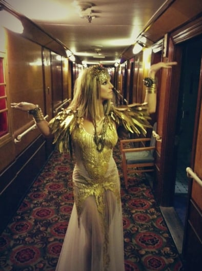 Britney Spears channelled Cleopatra for an Elizabeth Arden campaign shoot. Source: Twitter user britneyspears