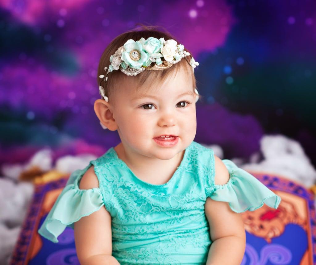Babies Dressed as Disney Princesses For Cake Smash Photos