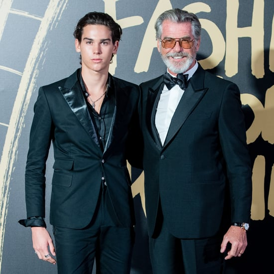 Pierce and Paris Brosnan Pose at London Fashion Week