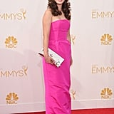 Zooey Deschanel at the 2014 Emmy Awards