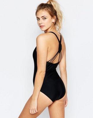 Boohoo Boutique Macrame Back Swimsuit