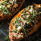 Stuffed Sweet Potato With Spinach and Feta