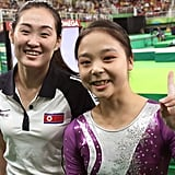 When gymnasts from North Korea and South Korea took a selfie.