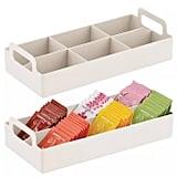 mDesign Compact Plastic Tea Storage Organiser Caddy Tote