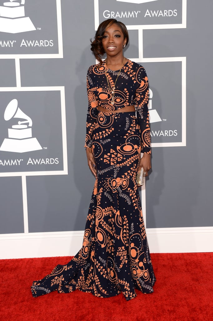Estelle hit the Grammys red carpet.