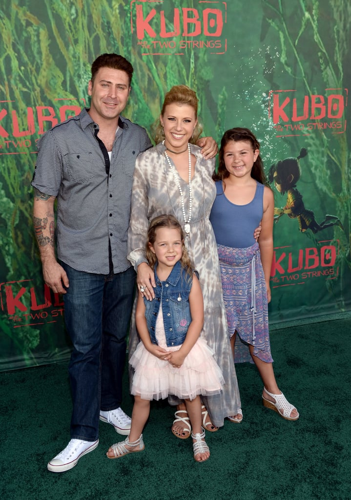 Jodie Sweetin attended the LA premiere of Kubo and the Two Strings with her fiancé, Justin Hodak, and her two daughters, Beatrix and Zoie, on Sunday afternoon. The actress, who's been busy filming the second season of the Netflix reboot Fuller House, flashed her signature smile as she posed for pictures with her family on the red carpet. Earlier in the week, the brood made a special trip to the Santa Monica Pier Aquarium, where they got a chance to check out the sea animals and learned how to protect the marine environment. Take a look at Jodie's cutest moments with her daughters.