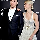 Julianne and Derek Hough at Golden Globes Afterparty 2017