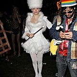 Rose McGowan wore a costume at the Hollywood Forever Cemetery  party.