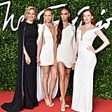 Nadja Swarovski, Amber Valletta, Joan Smalls and Karen Elson at the British Fashion Awards 2019