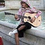 Justin Bieber Tie-Dye Sweatshirt Singing in London