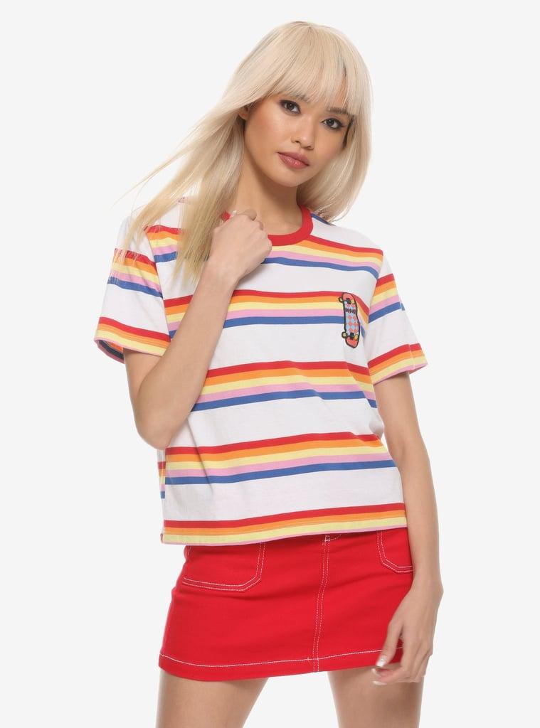 Stranger Things Max Striped Girls Ringer T-Shirt