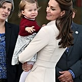 Even as Charlotte was pointing something out to Kate, she just wanted to stare at her daughter's adorable cheeks.