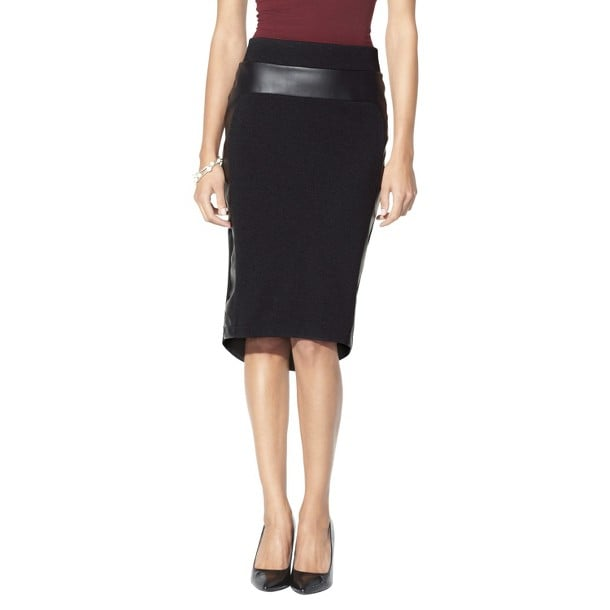 A little leather goes a long way on this Mossimo high/low faux leather pencil skirt ($23).