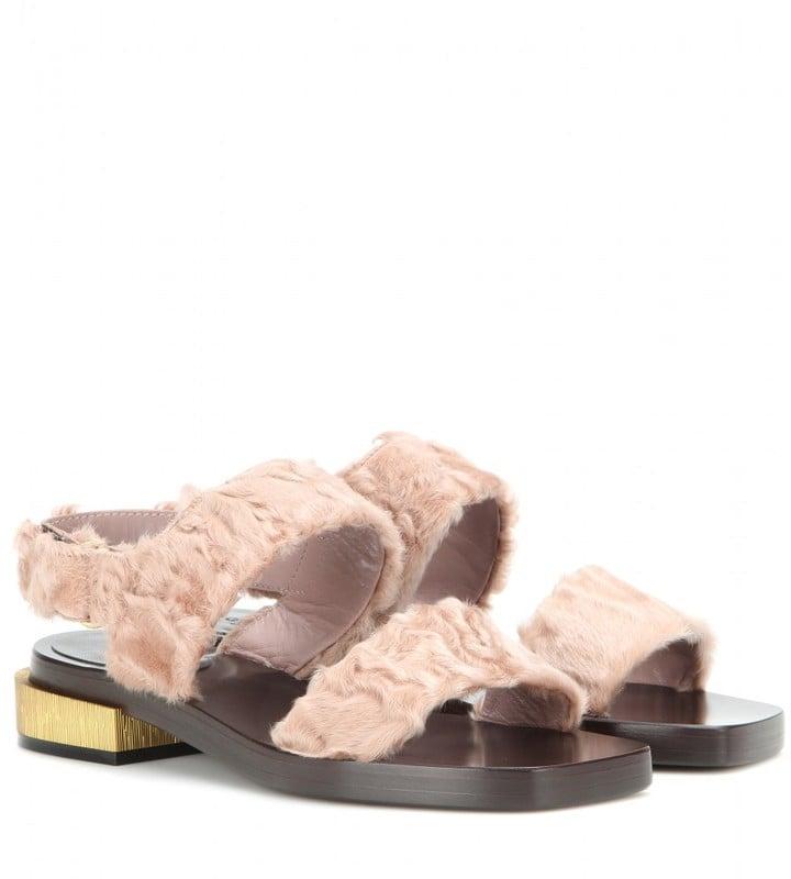 4c2fb219369e Gucci Fur Sandals ( 1