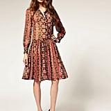 A long-sleeved shirt dress in a cool aztec print.  ASOS Drop Waist Print Dress ($67)
