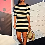 Joy Bryant stepped out in stripes and cool kicks for an event in LA.