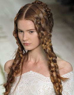 Woven Hair at the 2011 Paris Spring Alexander McQueen Show