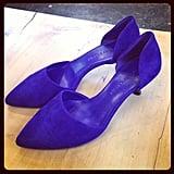 Blue suede shoes — a closet staple, courtesy of Jenni Kayne.