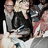 Gwen Stefani was surrounded by fans in NYC on Wednesday.