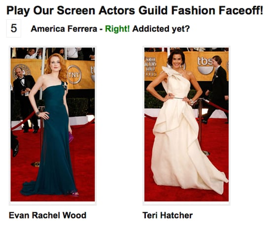 Play Our Screen Actors Guild Fashion Faceoff!