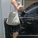 Cameron Diaz looked fit in her workout gear.