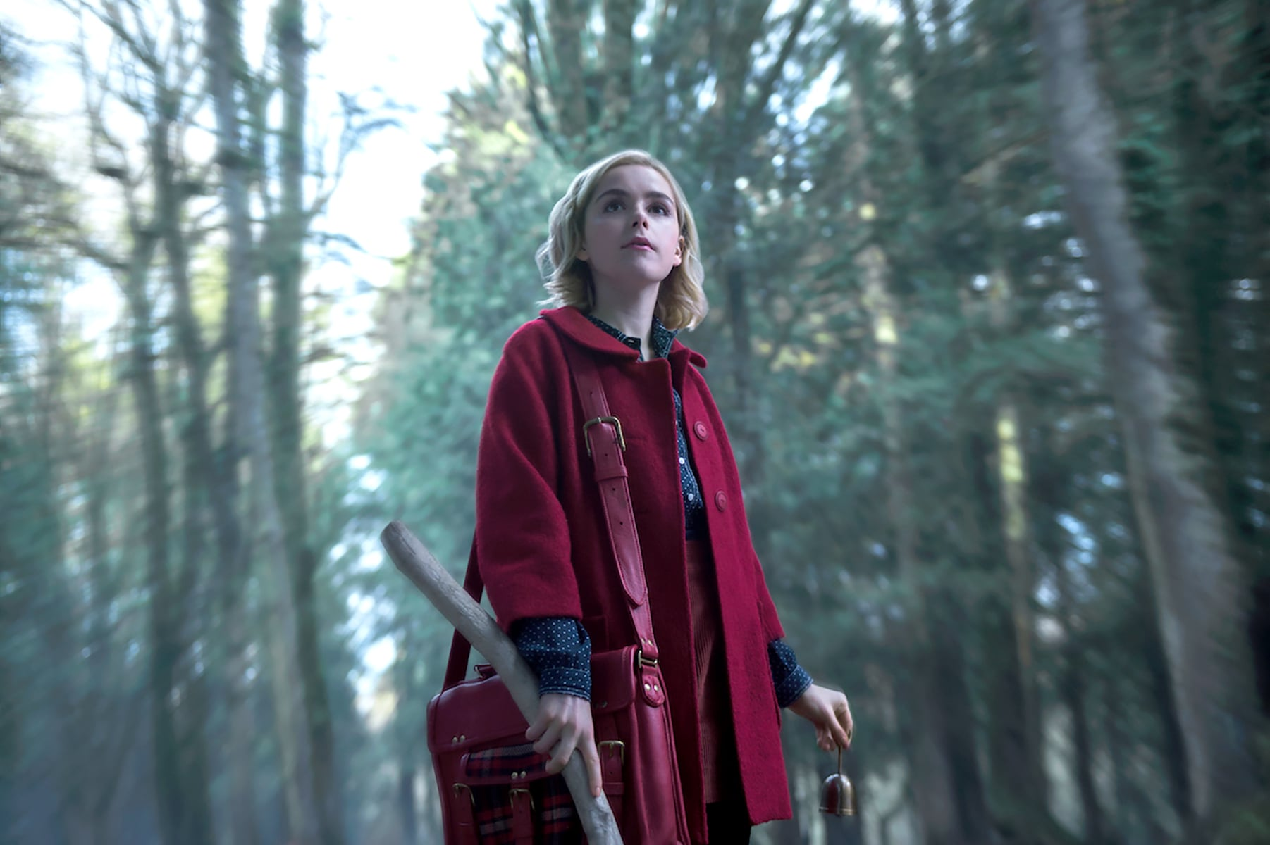 CHILLING ADVENTURES OF SABRINA, Kiernan Shipka in 'Chapter One: October Country', (Season 1, Episode 101, aired October 26, 2018), ph: Diya Pera /  Netflix / courtesy Everett Collection