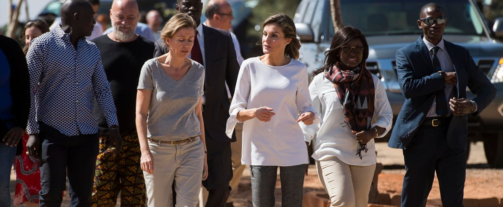 Queen Letizia Finished Off Her Look With an Unexpected Pair of Shoes, and We Love It!