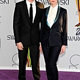 Patrik Ervell, with Kirsten Dunst in his design