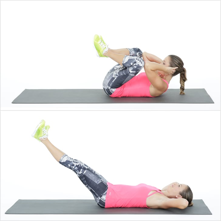 Stability Ball Knee Crunches: Frog Crunch Ab Exercise