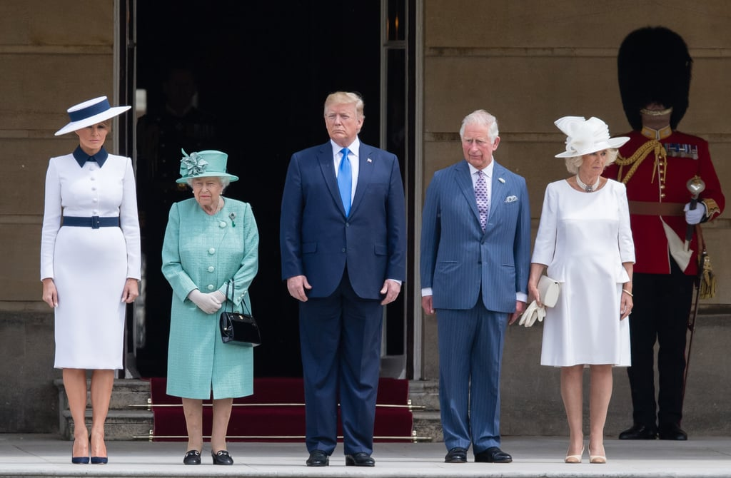 Camilla Winking During President Trump Meeting Video