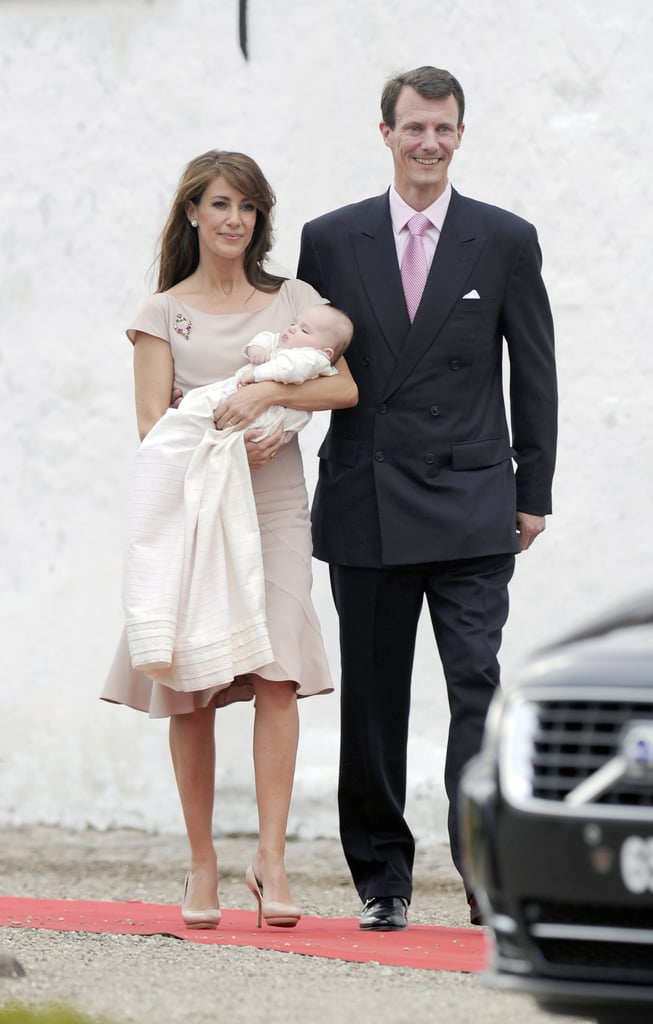 Her Christening Dress Was Neutral, Since It Was Her Daughter Princess Athena's Special Day