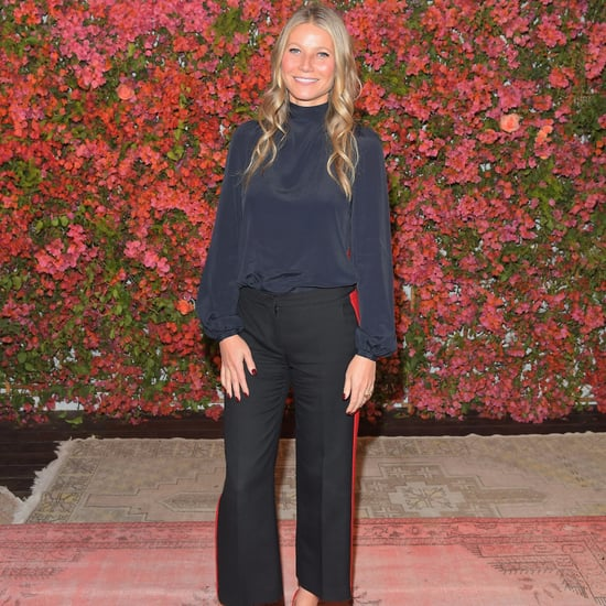 Gwyneth Paltrow Track Pants With Orange Stripe