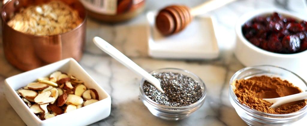 Homemade Granola Bars: Almond, Chia, Cranberry