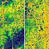 Thermal imaging of suburban Atlanta taken by ATLAS.