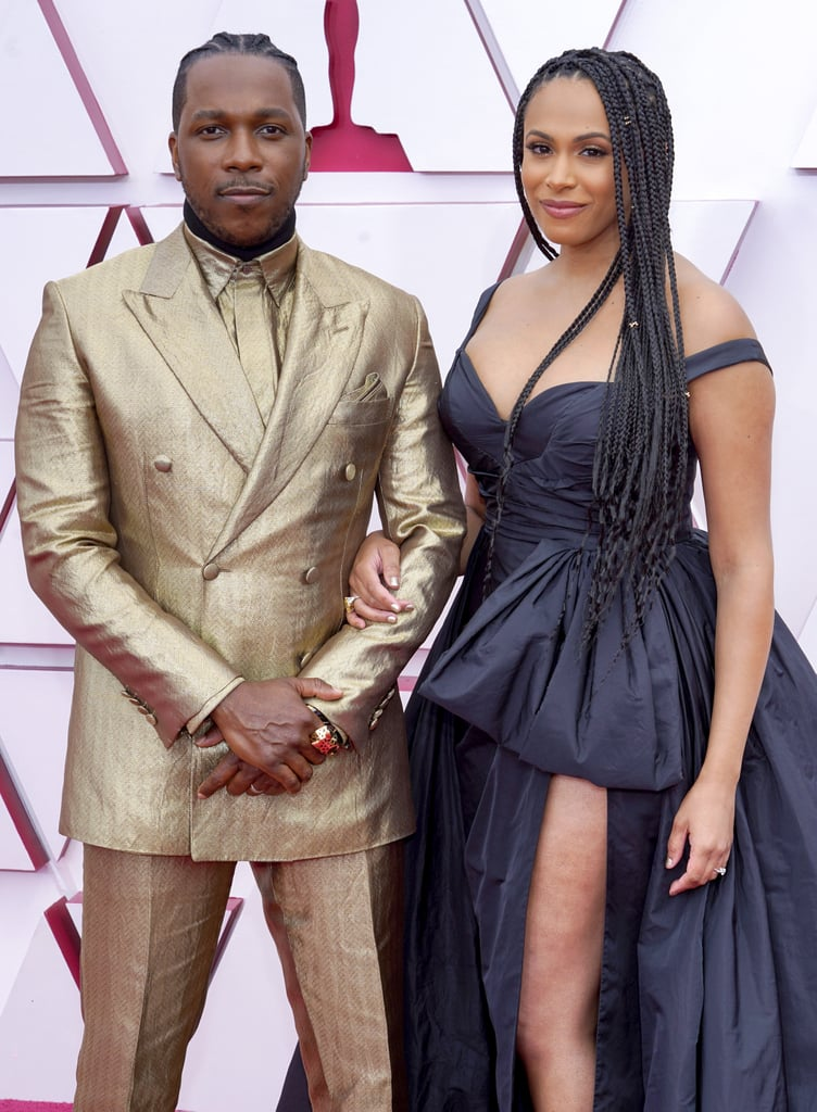 Leslie Odom Jr. and Nicolette Robinson at the Oscars 2021