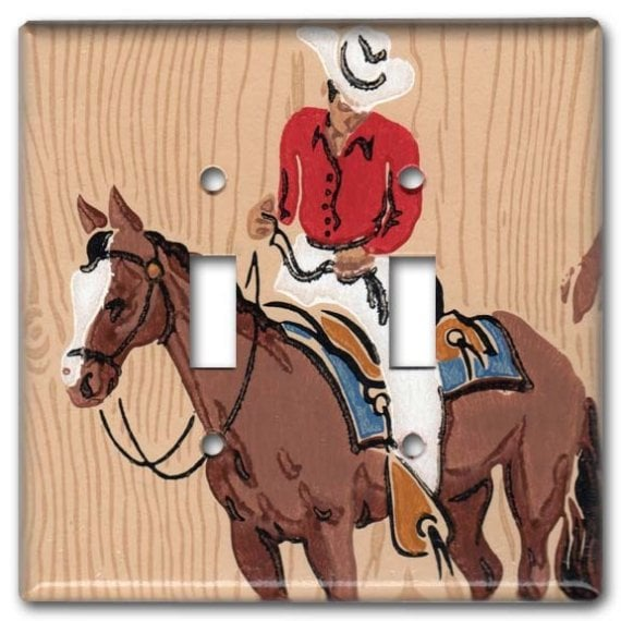 Cowboy Double Switch Plate