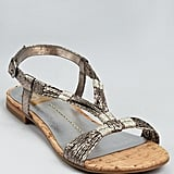 The snakeskin-embossed leather upper and cork footbed give the sandals added texture and city smartness.  Dolce Vita Dally Flat Sandals ($69)