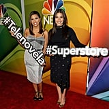 America Ferrera and Eva Longoria Have a Blast on the Red Carpet Promoting Their New TV Shows