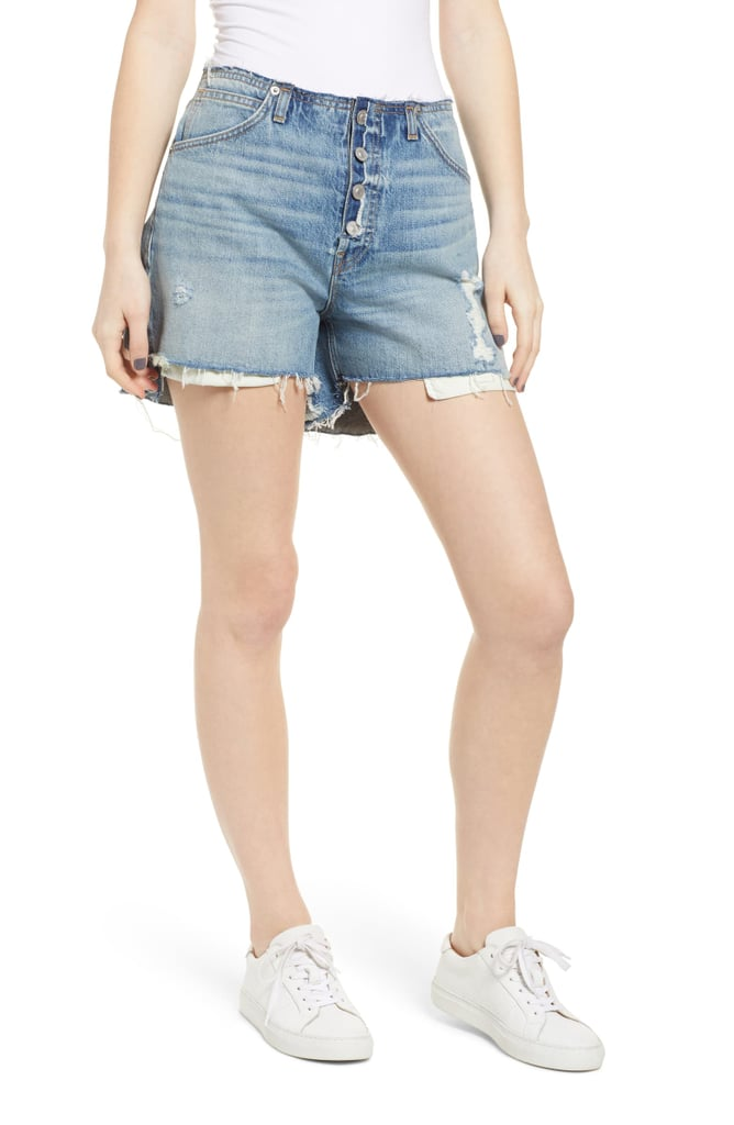 Hudson Jeans Sloane Relaxed Step Hem Cutoff Denim Shorts