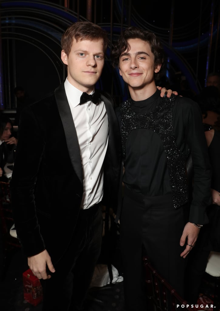 Pictured: Lucas Hedges and Timothe Chalamet