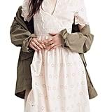 Madewell Scallop Eyelet Midi Dress