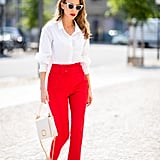This take on high waisted, slim-fit pants is the epitome of polish.