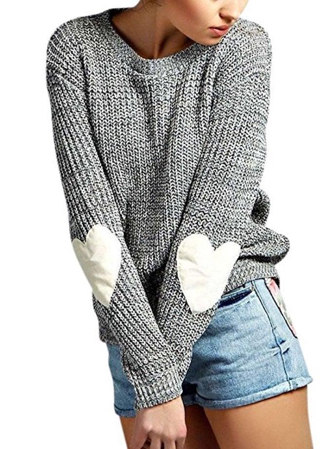 ZXZY Heart Patchwork Sweater