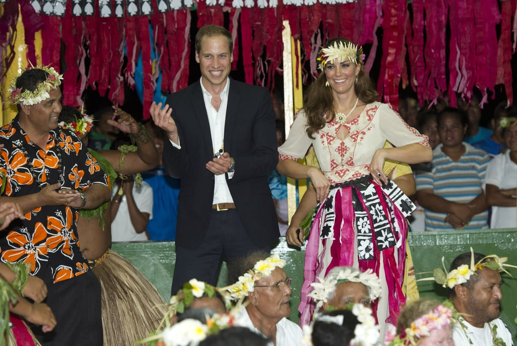 Prince William and Kate Middleton danced in Tuvalu in September 2012.