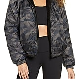 Zella Reversible Faux Shearling Puffer Jacket