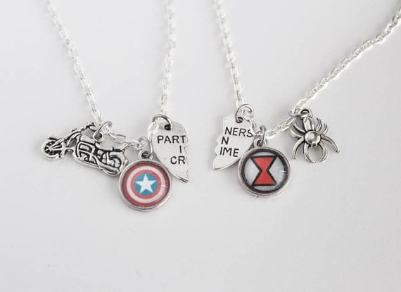 Steve Rogers and Natasha Romanoff BFF Necklaces