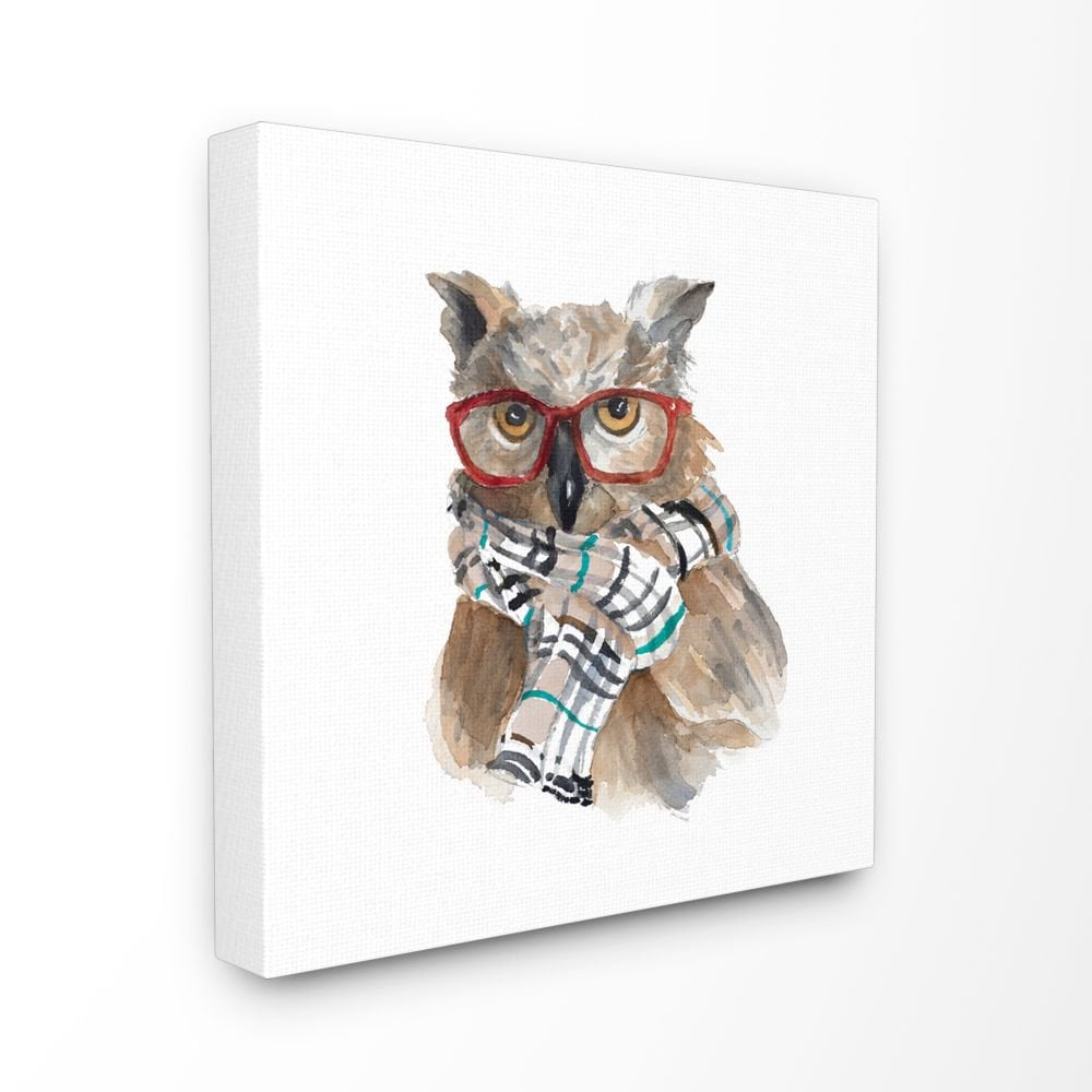 Fashion Owl Canvas Wall Art